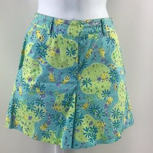 Lilly Pulitzer Blue & Green Print Shorts Size 0